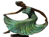 001 Art Deco Bronze - Dancing Lady - Height 53cm