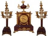 Three Piece French Marble Clock