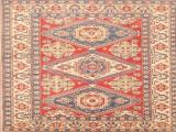 Hand Knotted Vegetable Dye Kazak Carpet 1