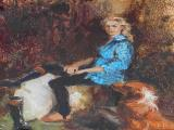 Marie VERMEULEN-BREEDT -  Seated Lady - Oil on canvas on board 30 x 24 cm SOLD for R9 500